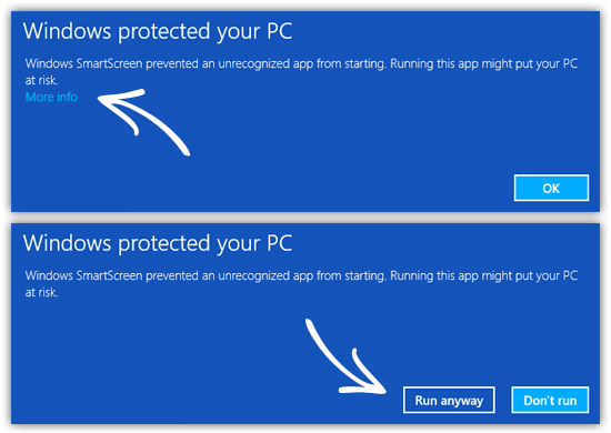 Image result for windows 10 options run anyway