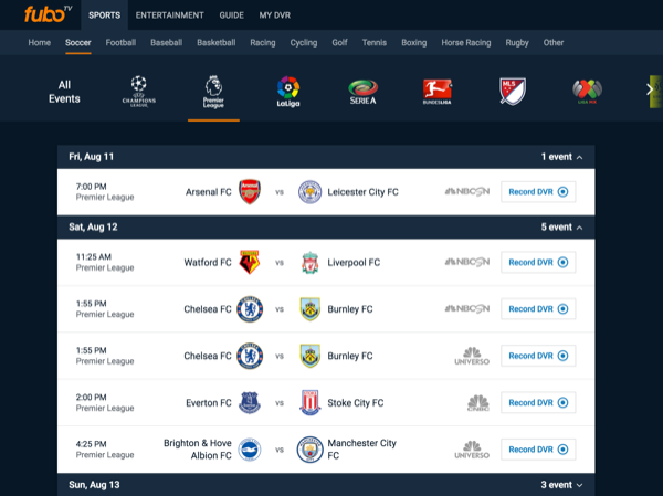 How to Watch the English Premier League via playmoTV   playmoTV
